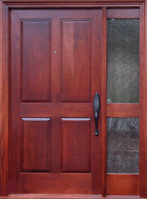 mahogany custom door